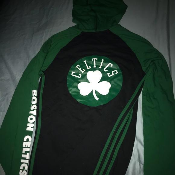 80acf7bb3 Women s Adidas Pullover Boston Celtics Hoodie